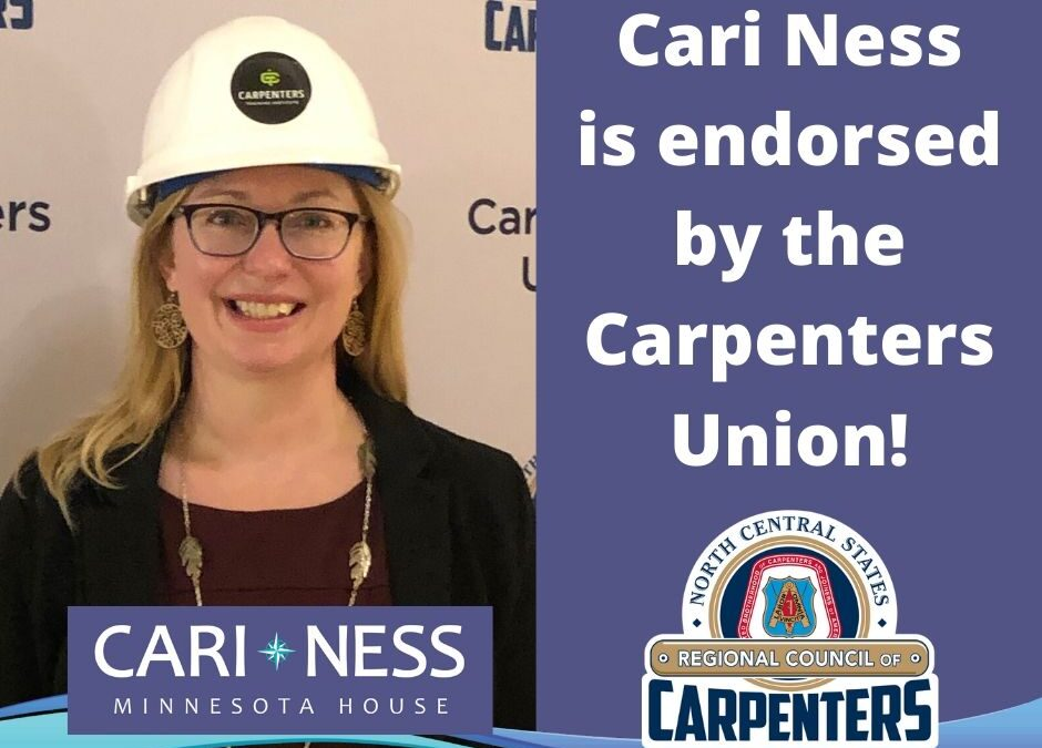 Carpenters Union Endorse Cari Ness for MN House